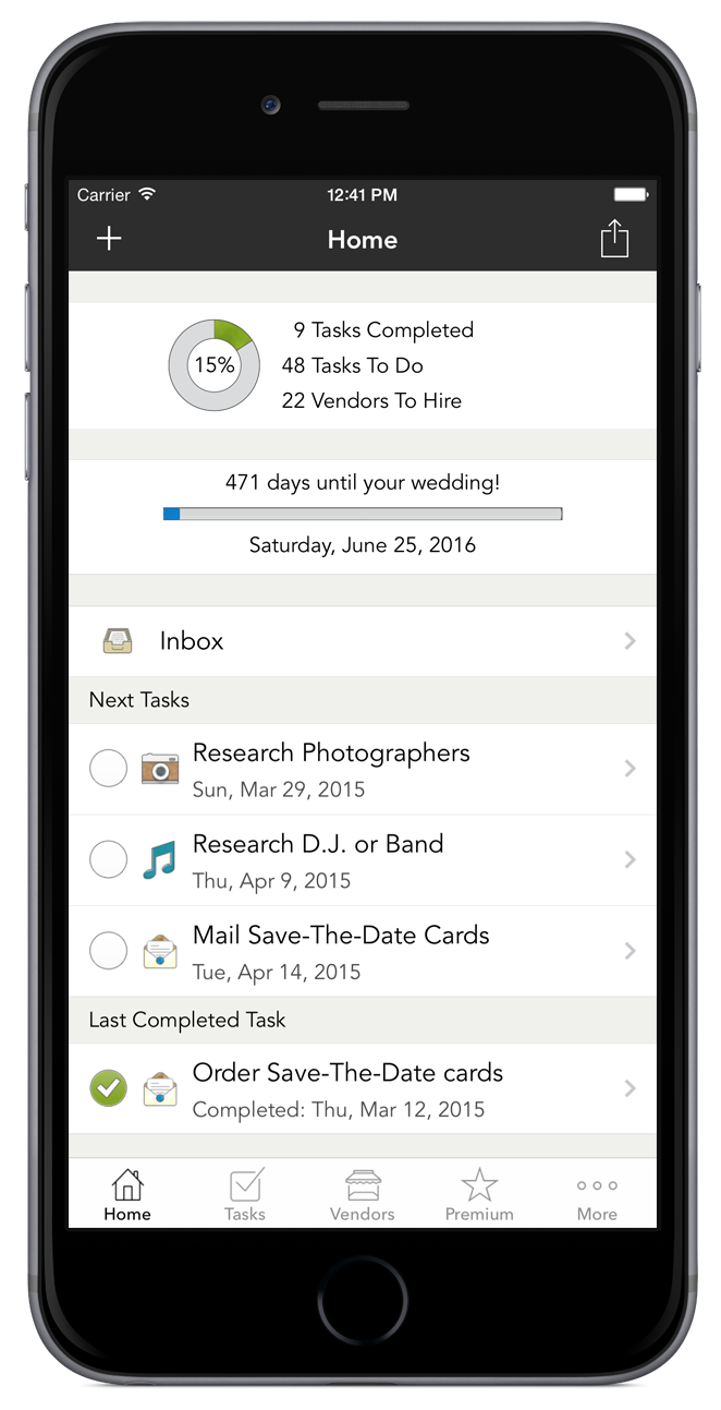 Weddinghappy the wedding app that gets you down the aisle did you know that wedding planning tasks have been completed with weddinghappy junglespirit Images